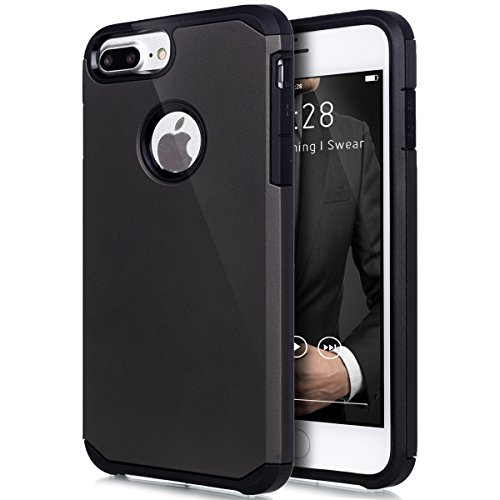 "Price comparison product image iPhone 7 Plus Case Shockproof,ikasus Hybrid Heavy Duty Shockproof Full-body Dirtproof Soft Silicone & Hard PC Dual Layer Non-slip Grip Protection Bumper Case Cover for Apple iPhone 7 Plus 5.5"" - Gray"