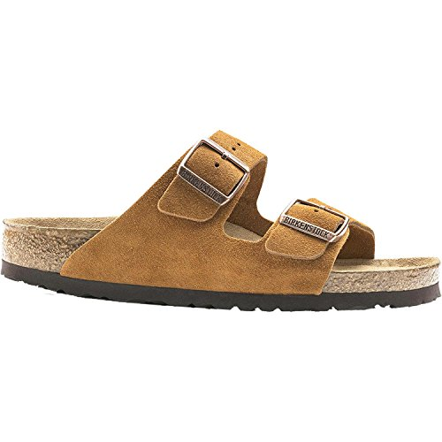 Birkenstock Arizona Soft Footbed Mink Suede Sandals 39 (US Women's 8-8.5)