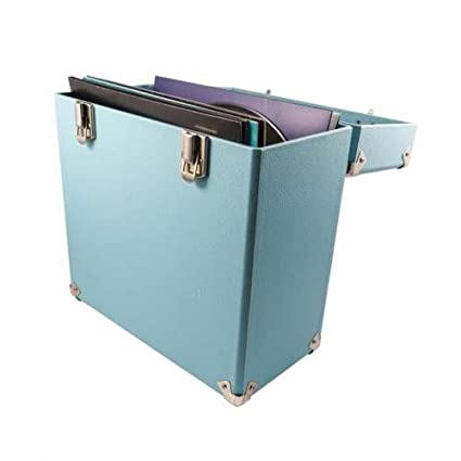 GPO Portable Carry Case for LP Records and 12-Inch Vinyl - Green Protelx GPO Vinyl Case Green Accessory Electronics Home Audio & Theater