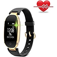 Fitness Tracker, WOWGO Women Sport Tracker Smart Watch Band Bracelet, Heart Rate Monitor Smart Bracelet,Wristband Watch with Health Sleep Activity Tracker Pedometer for iOS Android Phone