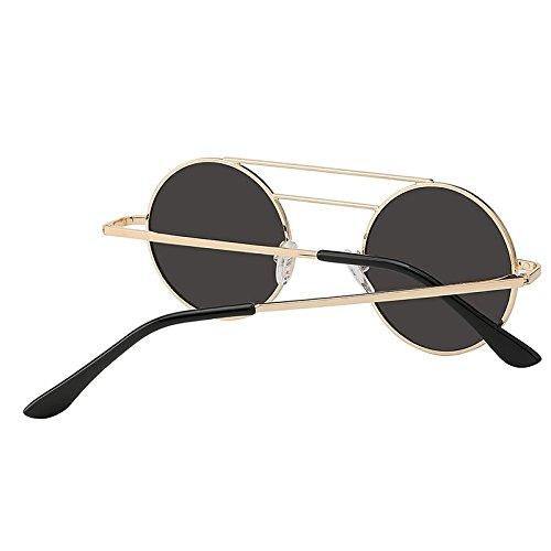 viga de metal Gafas para doble TIANLIANG04 de y hombre sol mujeres redondas mujeres para wxSwBYHq