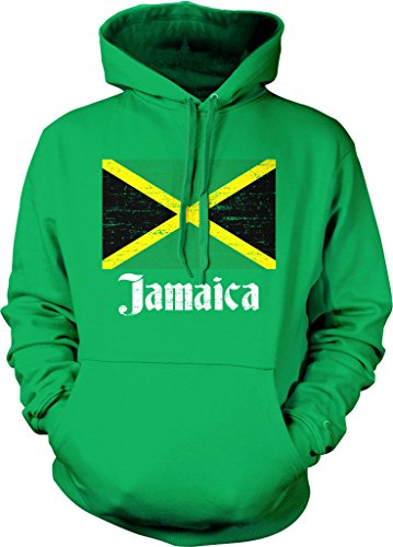 (Flag of Jamaica, Jamaican Flag, The Cross Hooded Sweatshirt, NOFO Clothing Co. M Kelly)