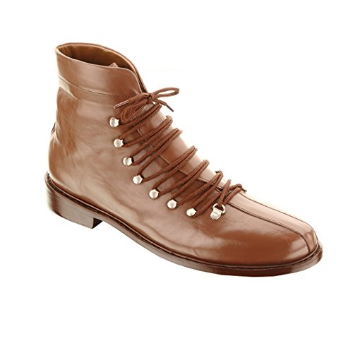 Handmade Damen Frost Hoover Mens Leather Ankle Boots, Perfect when Paired with Denim Jeans or Trousers Brown