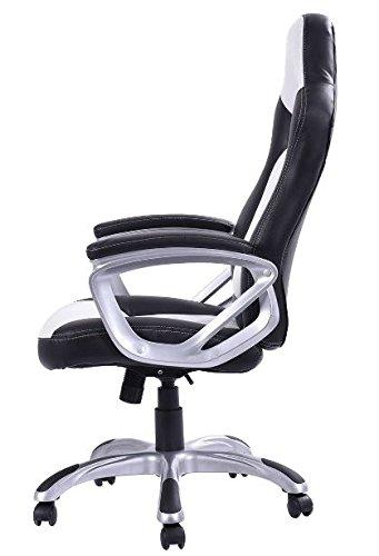 41z6KO6Ps8L - KA-Company-Chair-Style-High-Back-Gaming-Racing-Ergonomic-Office-Leather-Pu-Swivel-Computer-Executive-360-Degree-5-Wheels-Mesh-Bucket-Seat-White