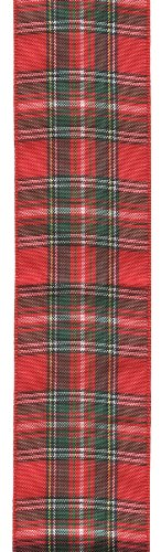Offray Monofilament Edge Classic Tartan Plaid Craft Ribbon, 1-1/2-Inch Wide by 25-Yard Spool, Laddie