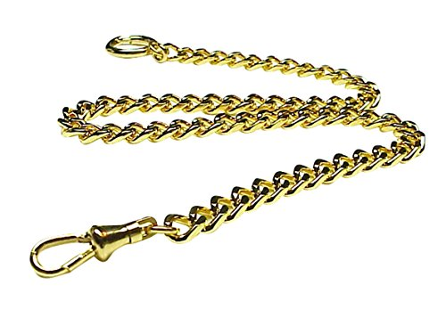 Old Father Time Gold Gents Sport Pocket Watch Chain-148Y