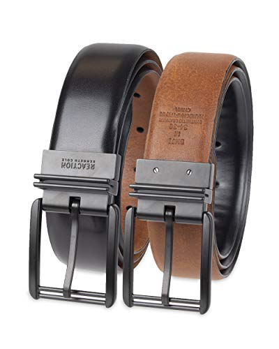 Kenneth Cole REACTION Men's Reversible Feather-Edge Belt, Black/Brown, Extra Large (44-46)