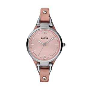 Fossil Watches, Women's Georgia Leather Watch Pink