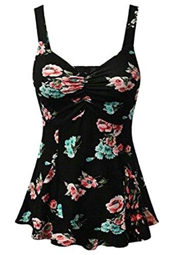 Jaycargogo Mini-robes Plissées Imprimé Floral Femmes De La Mode D'été 2