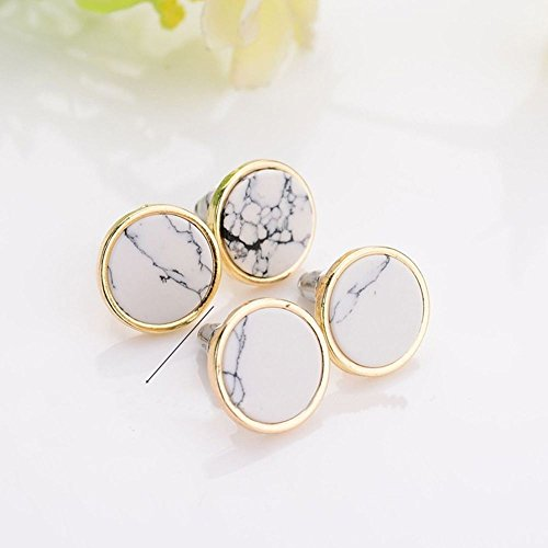 Sumanee Round Stone Triangle Geometric Jewelry Fashion Accessories Trendy Earrings triangle Round