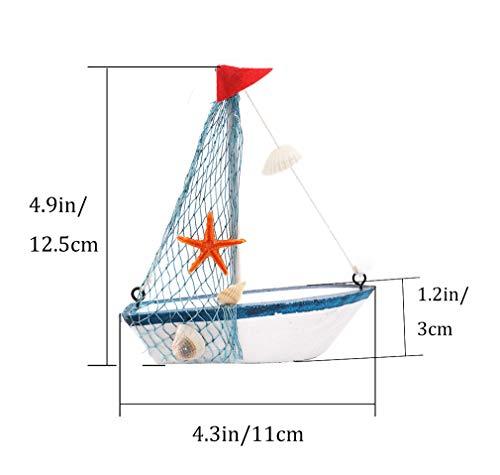 2x Nautical Wooden Sailing Boat Model Beach Nautical Theme Decor Ornamen