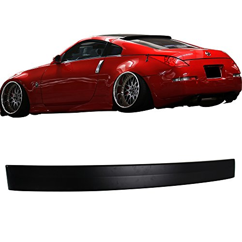 Roof Spoiler Fits 2003-2008 Nissan 350Z | RS Style Unpainted ABS Rear Wing Lid by IKON MOTORSPORTS | 2004 2005 2006 2007 ()