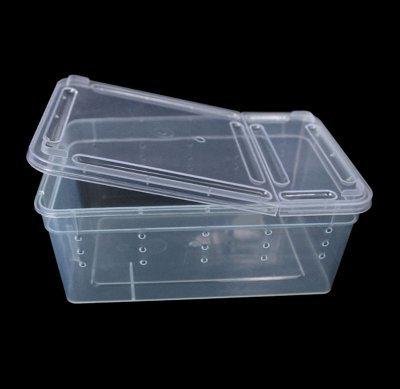 Reptile Snake Lizard Tarantula Breeding Box Small Case Feeding Hatching Container 7.48 x 4.92 x 2.95 Inch