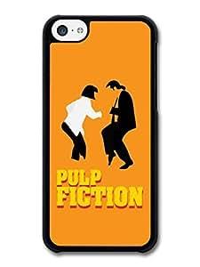 MMZ DIY PHONE CASEAMAF ? Accessories Pulp Fiction Uma Thurman John Travolta Dancing Minimalist Illustration case for iphone 5/5s