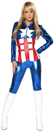 Sexy American Hero Adult Costume - Small - Sexy Captain America Costumes