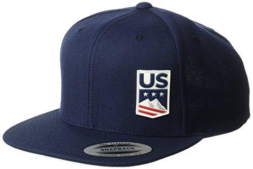 US Ski-Snowboard Licensed Apparel U.S. Ski Team Logo Cap, Navy, One Size