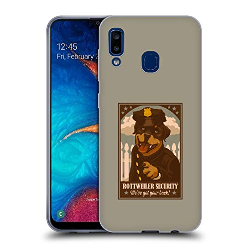 (Official Lantern Press Rottweiller Security Dog Collection Soft Gel Case Compatible for Samsung Galaxy A20 / A30 (2019))