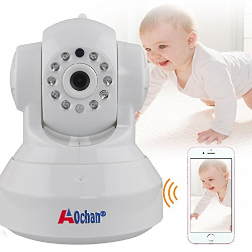 A0CHAN HD 960P WiFi IP Security Camera Wireless Indoor Night Vision P2P Onvif Multi-stream Network CCTV Baby Monitor For Mobile Phone Remote Monitoring Two Audio Support maximum of 64G TF Card(white) by A0CHAN