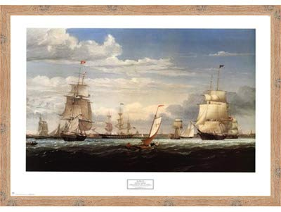 ボストン港、1853 by Fitz Hugh Lane – 35 x 26.5インチ – アートプリントポスター LE_61943-F10902-35x26.5 B01NCYOPR4 Knotty Wood Frame Knotty Wood Frame