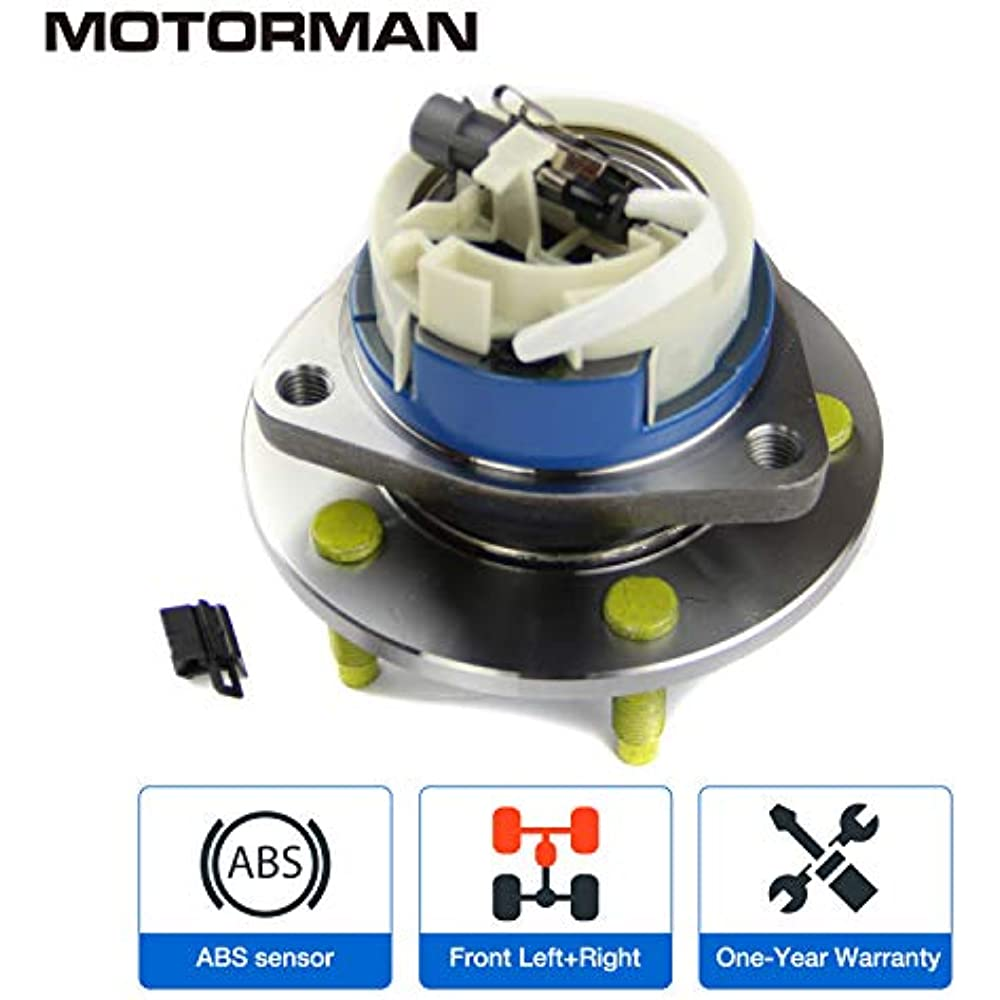 MOTORMAN 513121 Front ABS Wheel Hub and Bearing Set Both Left and Right Pair of 2