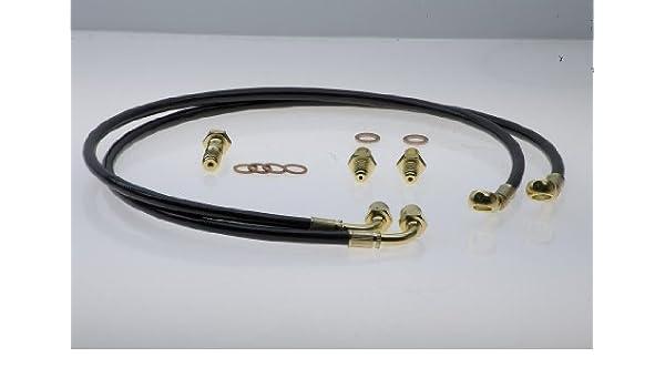 Carbolook Hose /& Stainless Banjos Pro Braking PBF7323-CAR-SIL Front Braided Brake Line