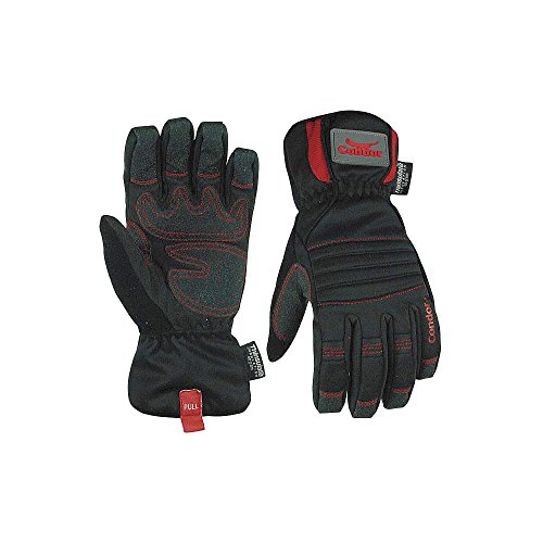 Condor / SinSco - 8R261 - Cold Protection Gloves, Thinsulate Lining, Gauntlet Cuff, Black, S, PR 1