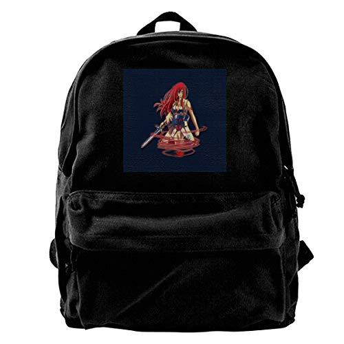 MIJUGGH Canvas Backpack Fairy Tail Erza Scarlet Red Swirl Rucksack Gym  Hiking Laptop Shoulder Bag Daypack for Men Women