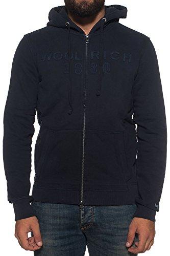 Vedi Colore Logo Woolrich Zip Inv Felpa Mod Wofel1059 Cappuccio Uomo Blu Foto Hoodi Full A1Yowwt7qx