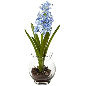 Nearly Natural Hyacinth & Birds Nest with Vase 33