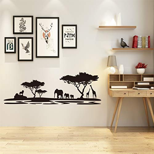 Xisheep Mobile Creative Forest Elephant Pattern Mural Stickers, Wall Stickers Art Non-Toxic Never Damage The Wall for Home Window -