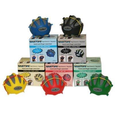 CanDo 10-2275 Digi-Extend n' Squeeze Hand Exerciser, No Stand, Small, 5-piece Set, Yellow through Black