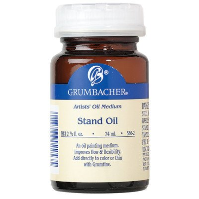 (Grumbacher Stand Oil Medium, 2-1/2 Oz. Jar, #566-2)