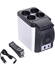 Portable 12V 6L Car Small Refrigerator Mini Compact Cooler Fridge Freezer Camp