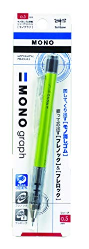 (Tombow Mono Graph Shaker Mechanical Pencil 0.5mm, Lime Green Body, R3)