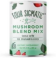 Four Sigmatic 10 Mushroom Blend - Lions Mane, Reishi, Chaga, Cordyceps, Enoki, Maitake, Shiitake, Tremella, Meshima, Agaricu