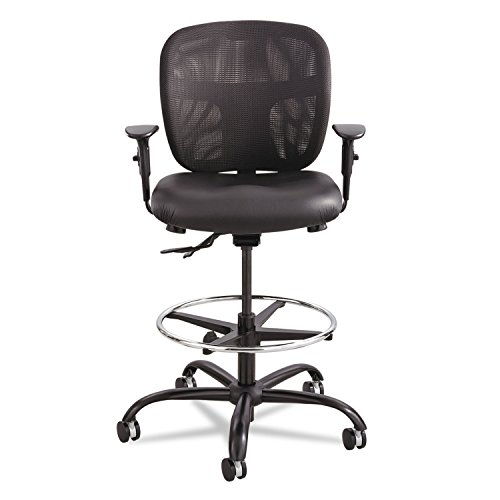 Safco Products Vue Heavy Duty Stool 3394BV, Black Vinyl, Rated for 24/7 Use, Holds up to 350 lbs.