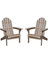 Adirondack Chairs Patio Furniture Amazon Com