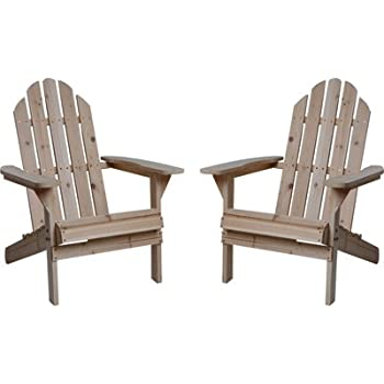 Fir Wood Unfinished Adirondack Chairs - Twin Pack  sc 1 st  Amazon.com & Amazon.com : Fir Wood Unfinished Adirondack Chairs - Twin Pack ...