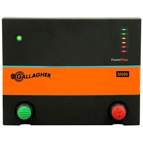 Gallagher G381504 M600 110-volt Fencer, 150 Acre/25-Mile