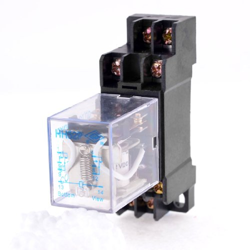 - Uxcell a11063000ux0053 DPDT HH52P Coil 8 Pin General Purpose Relay with PYF08A Socket, DC 12V
