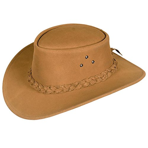 (Classic Kakadu Echuca Mossback Leather Hat 2nd Choice)