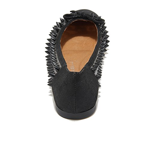 3240I ballerine donna nere JEFFREY CAMPBELL astair spike scarpe shoes women Nero