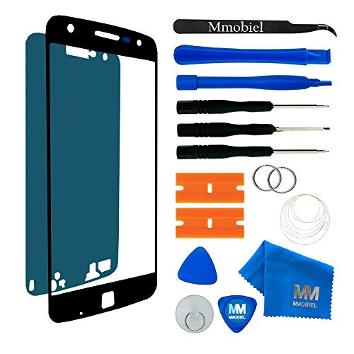 MMOBIEL Front Glass Replacement for Motorola Moto Z Play Droid 5.5 Inch (Black) Display Touchscreen incl Tool Kit
