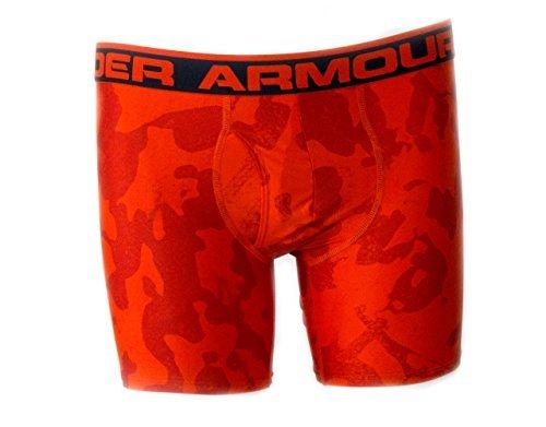Under Armour Men's UA Original Series 6' Boxerjock¨ Small Orange Camo Seasonal Print