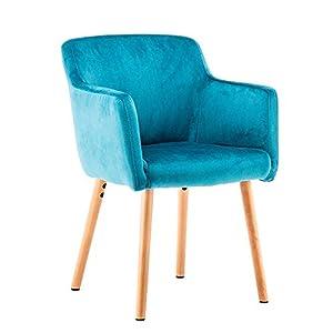 Marque Amazon –Movian Vardar – Chaise de salle à manger, bleu