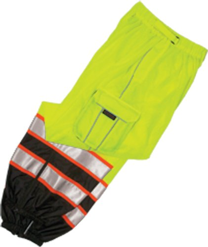 [ML Kishigo 3118 Polyester Brilliant Series Mesh Pant, Fits Large and Extra Large, Lime] (Ml Series)
