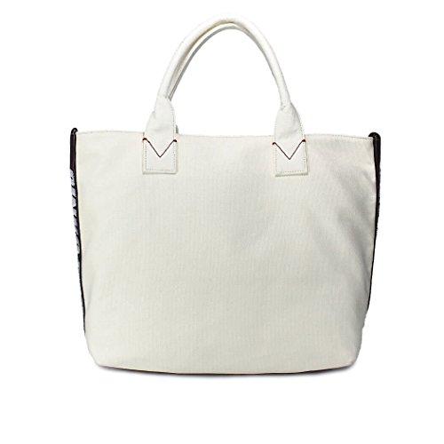 Pinko Damen 1H20DRY4C9C27 Weiss Stoff Handtaschen