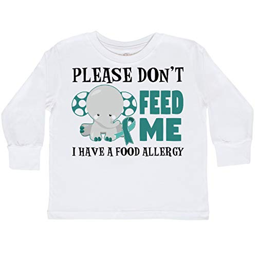 inktastic - Please Dont Feed Me I Toddler Long Sleeve T-Shirt 4T White 29dc0