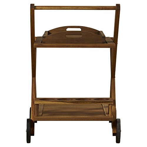 Beachcrest Home Deer Island Serving Cart, Bar Serving Cart, Distressed by Beachcrest Home (Image #3)