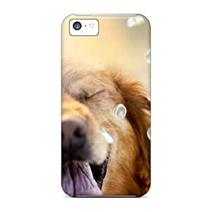 First-class Case Cover For Iphone 5c Dual Protection Cover Laughing Golden Retriever